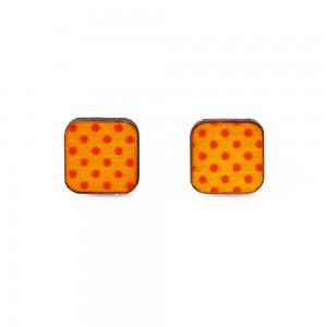 Náušnice čtverce s puntíky