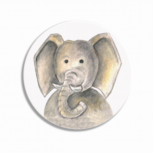 Placka/brož Slon