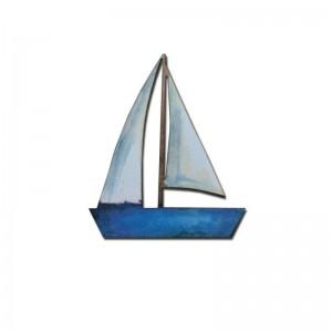 Brož loďka modrá