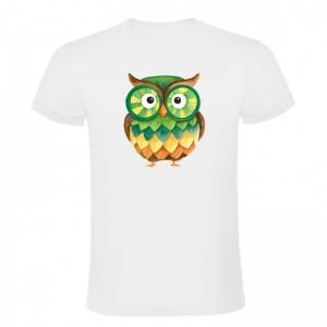 Tričko - Barevná sova