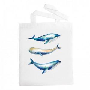 Látková taška - Velryby